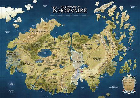 Khorvaire, der Hauptkontinent Eberrons (zum Vergrößern klicken)